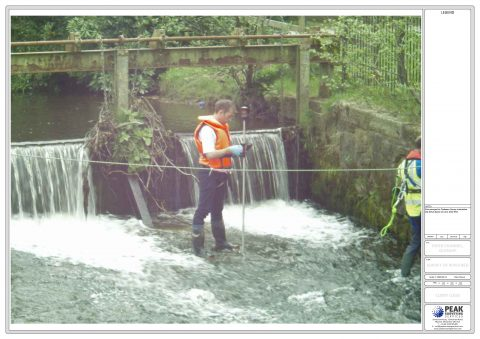 River Bed Survey, Glossop, Derbyshire